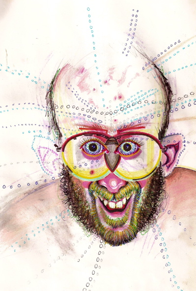 25 self-portraits drawn on 25 different drugs | Death and Taxes